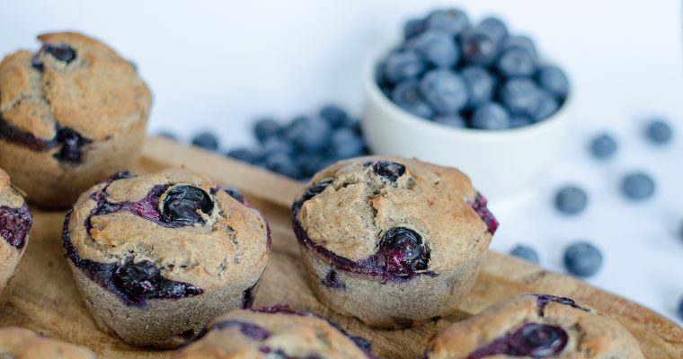 Muffin ai mirtilli con 6 ingredienti